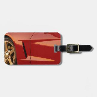Mi Corvette rojo Etiqueta Para Equipaje