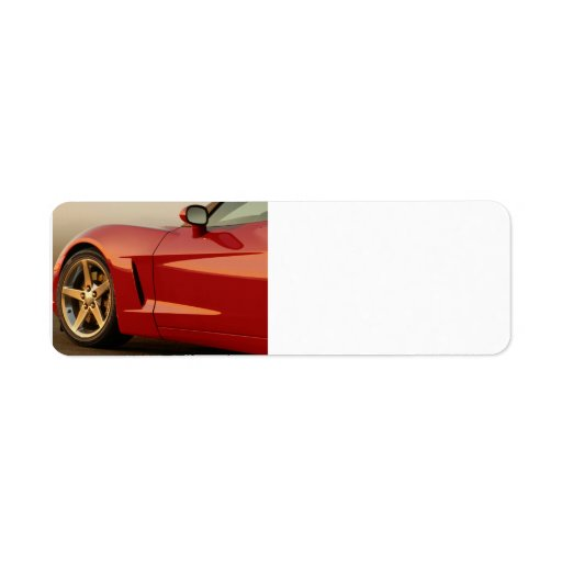 Mi Corvette rojo Etiquetas De Remite