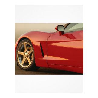 """Mi Corvette rojo Folleto 8.5"""" X 11"""""""