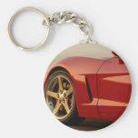 Mi Corvette rojo Llaveros Personalizados