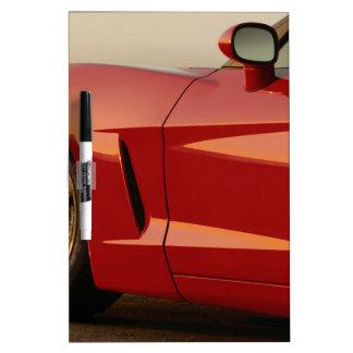 Mi Corvette rojo Pizarras Blancas