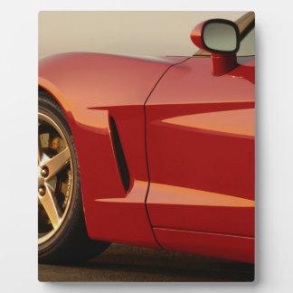 Mi Corvette rojo Placas De Madera