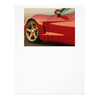 Mi Corvette rojo Plantilla De Membrete