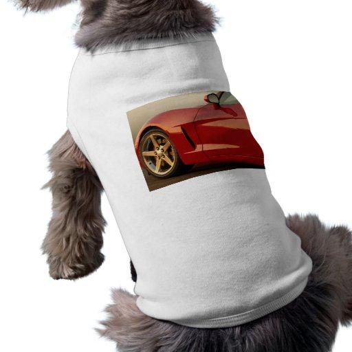 Mi Corvette rojo Playera Sin Mangas Para Perro