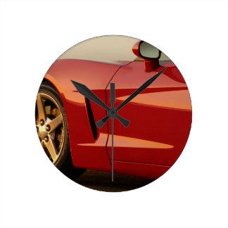 Mi Corvette rojo Reloj Redondo Mediano