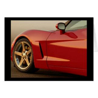 Mi Corvette rojo Tarjeta De Felicitación