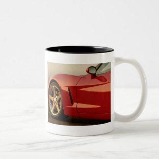 Mi Corvette rojo Taza De Dos Tonos