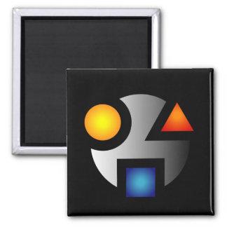 MI cryptic logo magnet
