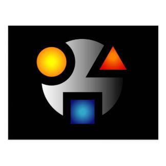 MI cryptic logo postcards