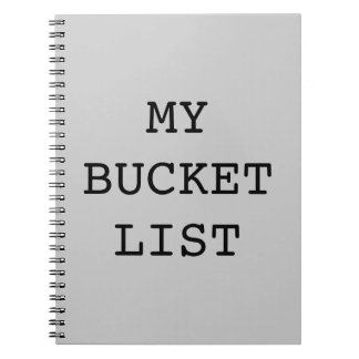 Mi cuaderno de la lista del cubo