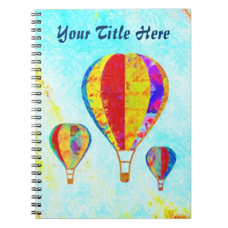 Mi cuaderno espiral de los globos hermosos