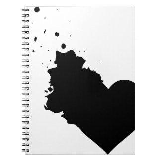 Mi cuaderno salpicado del corazón