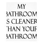 Mi cuarto de baño es más limpio que su cuarto de b membrete personalizado