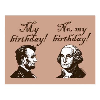 Mi cumpleaños tarjeta postal