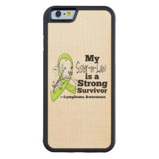 Mi cuñada es un superviviente fuerte del linfoma funda de iPhone 6 bumper arce