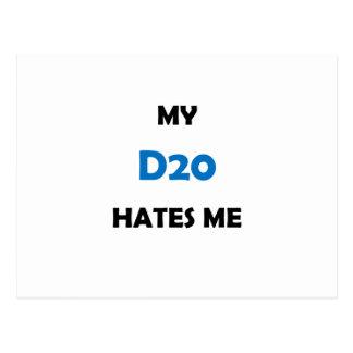 Mi D20 me odia Postales