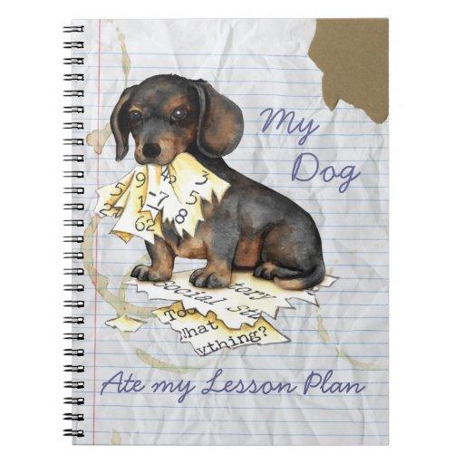 Mi Dachshund comió mi plan de lección Libreta Espiral