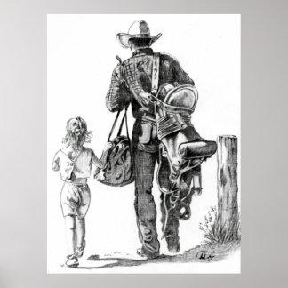 Mi Dad´s un vaquero Póster