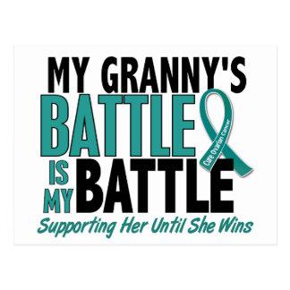 Mi de la batalla cáncer ovárico de la abuelita tam tarjeta postal