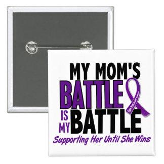 Mi de la batalla cáncer pancreático de la mamá pin cuadrado