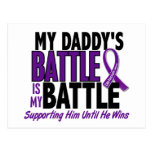 Mi de la batalla cáncer pancreático del papá tambi tarjeta postal