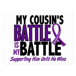 Mi de la batalla cáncer pancreático del primo tamb tarjeta postal