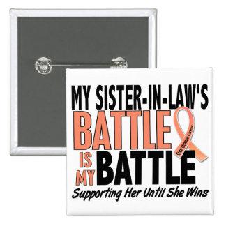 Mi de la batalla cáncer uterino de la cuñada pin cuadrado