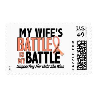 Mi de la batalla cáncer uterino de la esposa sello