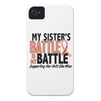 Mi de la batalla cáncer uterino de la hermana tamb Case-Mate iPhone 4 coberturas