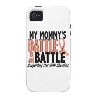 Mi de la batalla cáncer uterino de la mamá también iPhone 4 carcasas