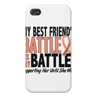 Mi de la batalla cáncer uterino del mejor amigo ta iPhone 4 cárcasa