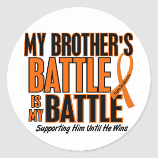 Mi de la batalla leucemia de Brother también Pegatina Redonda