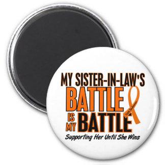 Mi de la batalla leucemia de la cuñada también imán redondo 5 cm