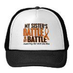 Mi de la batalla leucemia de la hermana también gorro de camionero