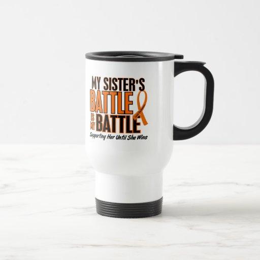 Mi de la batalla leucemia de la hermana también taza