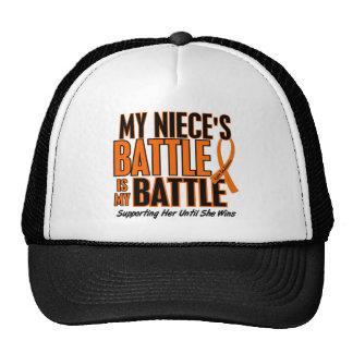 Mi de la batalla leucemia de la sobrina también gorras de camionero