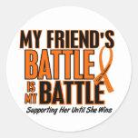 Mi de la batalla leucemia del amigo también pegatina
