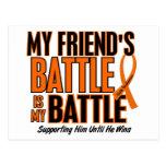 Mi de la batalla leucemia del amigo también tarjetas postales