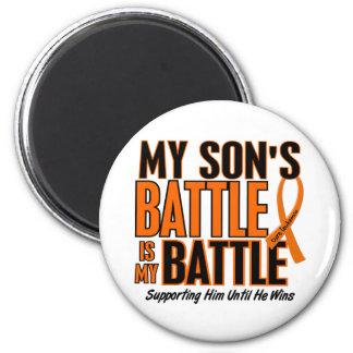 Mi de la batalla leucemia del hijo también imán redondo 5 cm