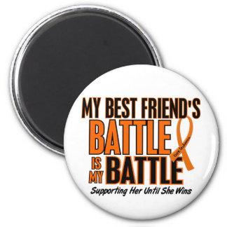 Mi de la batalla leucemia del mejor amigo también imán redondo 5 cm