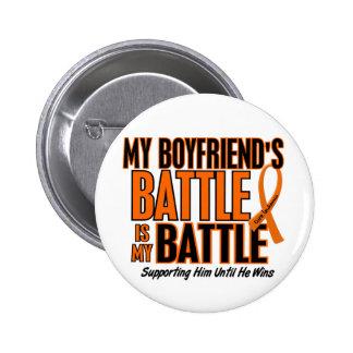 Mi de la batalla leucemia del novio también pin redondo de 2 pulgadas