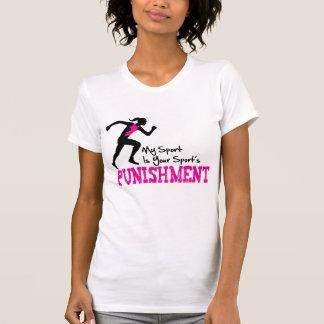 MI deporte es hembra de funcionamiento del castigo Camisetas