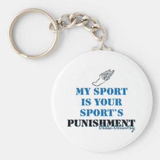 Mi deporte es su castigo de los deportes - cc llavero personalizado