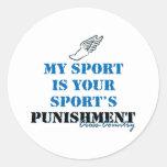 Mi deporte es su castigo de los deportes - cc etiqueta redonda