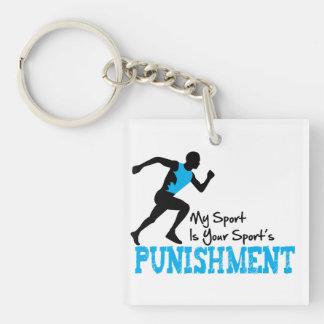 Mi deporte es su llavero del castigo de los deport