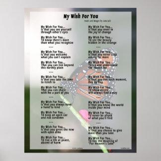Mi deseo para usted poster (versión original)