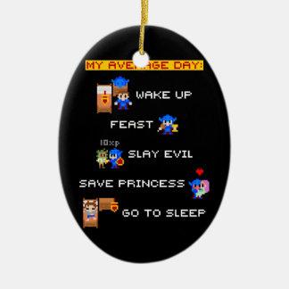 Mi día medio (RPG de 8 bits) Ornamentos De Navidad