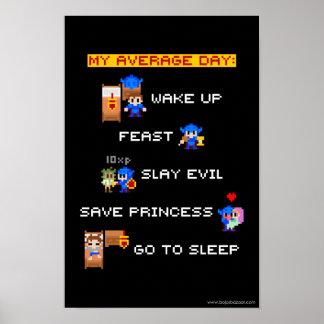 Mi día medio (RPG de 8 bits) Poster