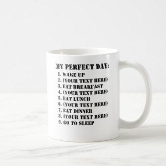 Mi día perfecto taza básica blanca
