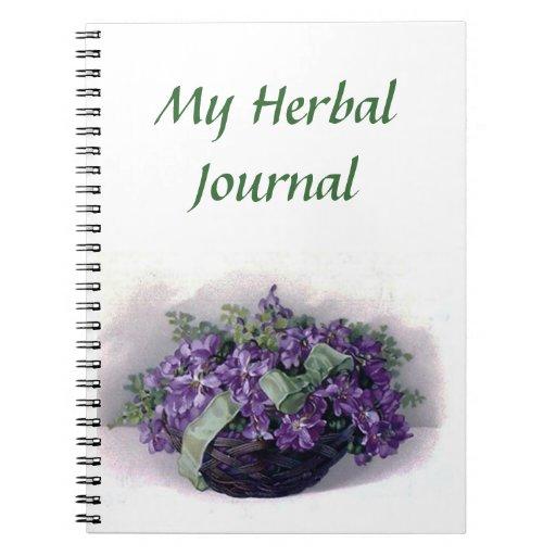 Mi diario herbario - violetas del vintage cuadernos